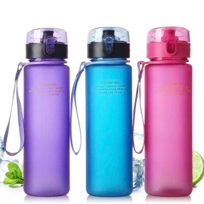Casno 400ml-es szivárgásbiztos BPA mentes kulacs kék színben